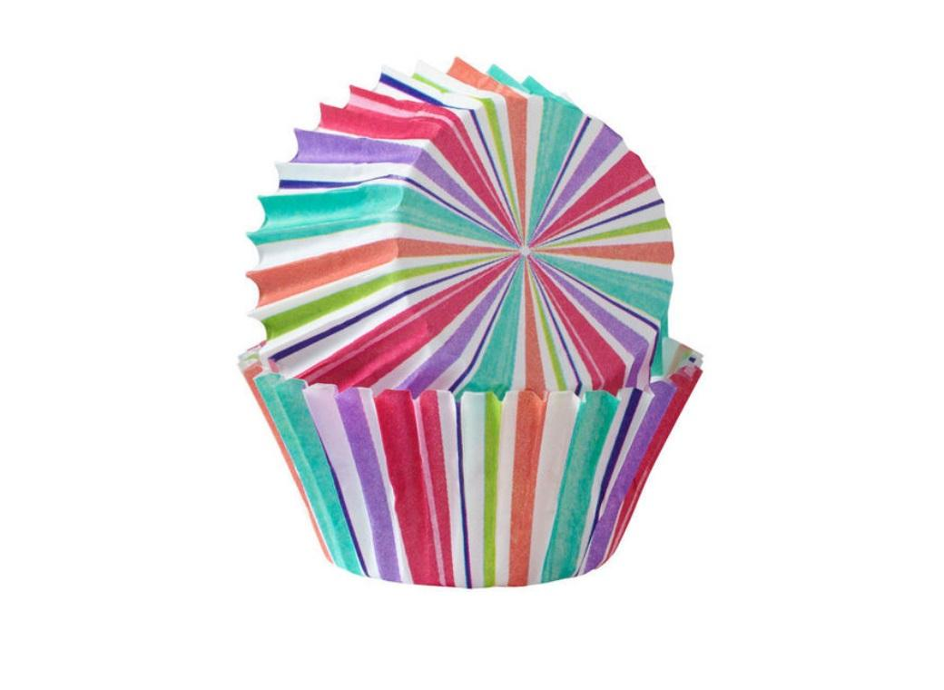 Wilton Mini Cupcake Cases - Pastel Stripes