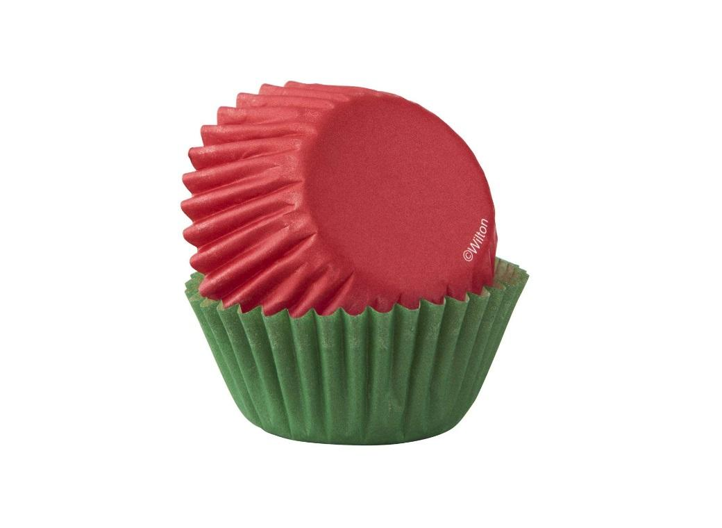 Wilton Mini Cupcake Cases - Red&Green