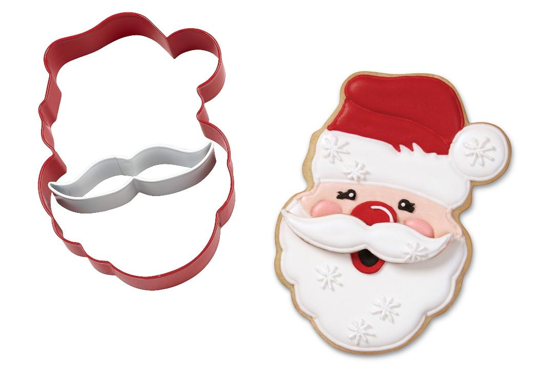 Santa 2pce Cookie Cutter Set