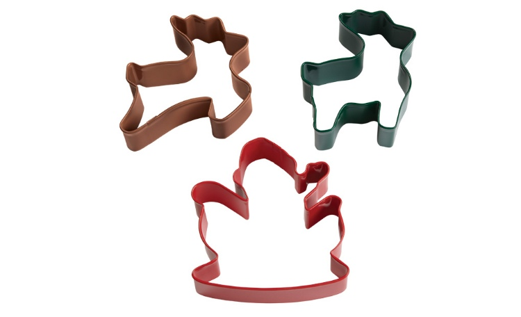 Wilton Santa&Reindeer Cookie Cutter Set 3 pce