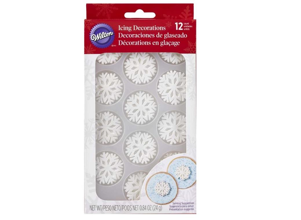 Wilton Edible Snowflake Decorations 12pk