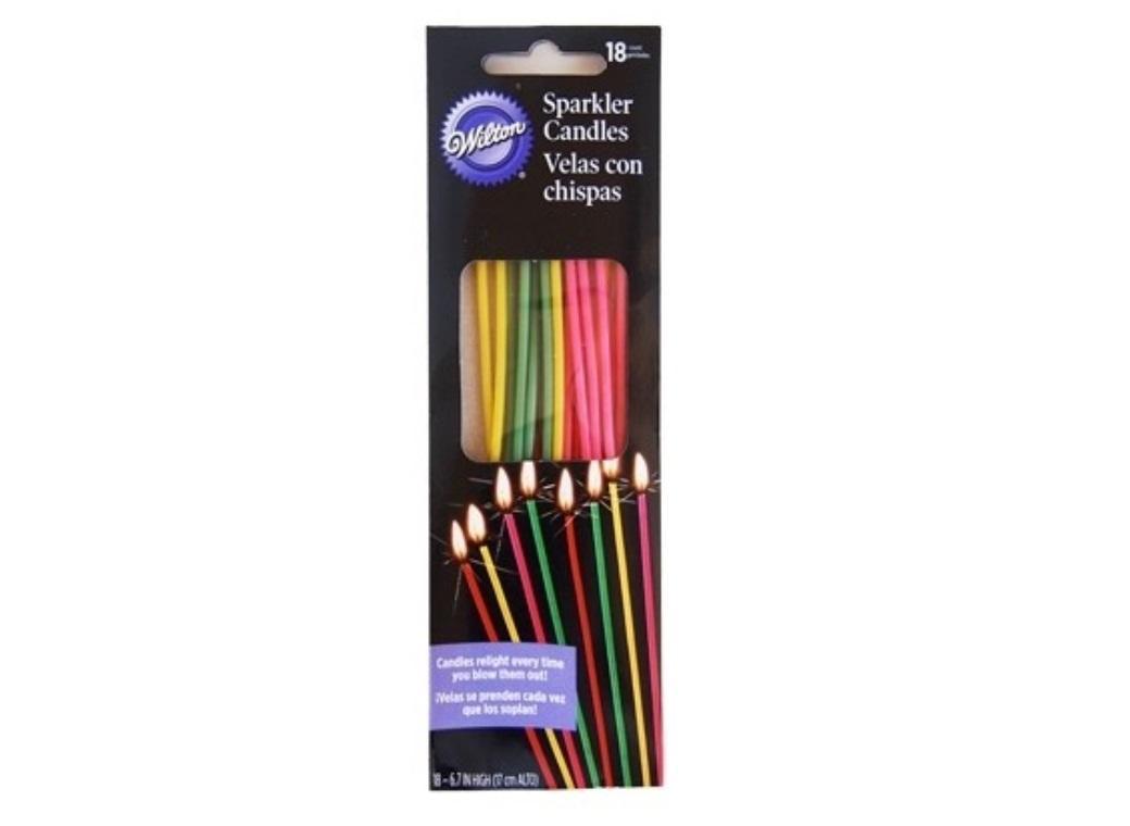 Wilton Sparkle Candles 18pk