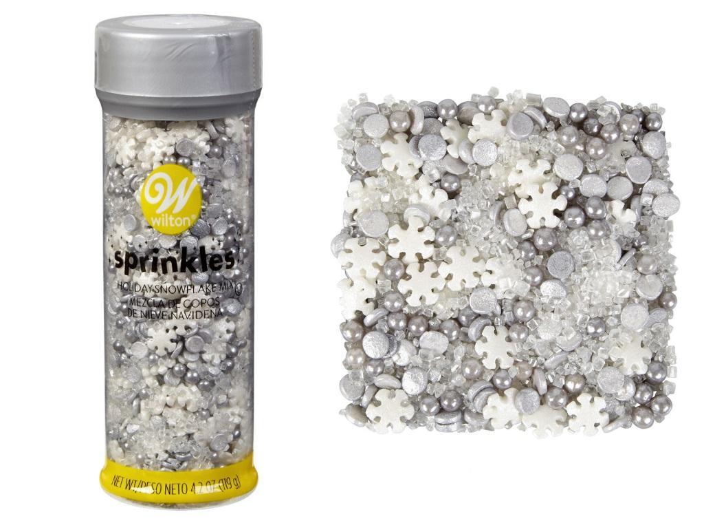Wilton Sprinkles Metallic Snowflake Mix