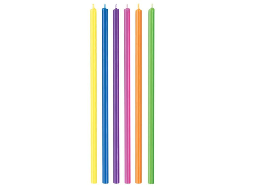 Wilton Tall Multicolour Candles 12pk