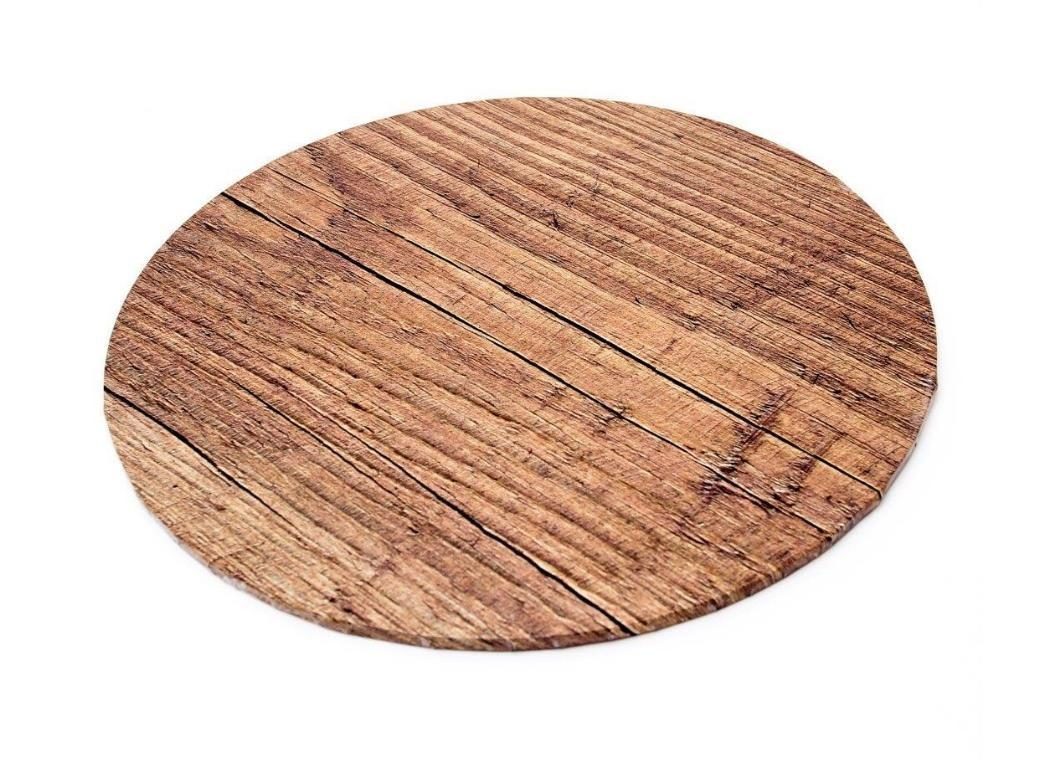 Woodgrain Masonite Cake Board Round - 14""